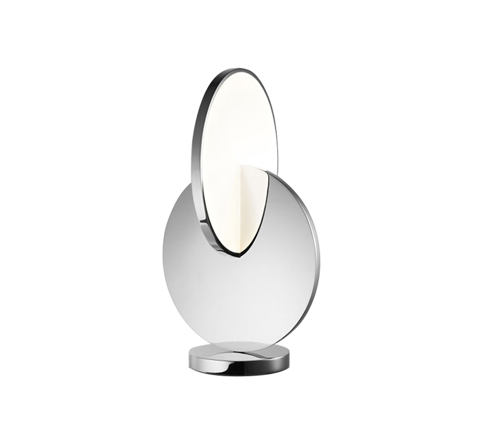 Chrome Stainless Steel LED Table Lamp with Acrylic Shade