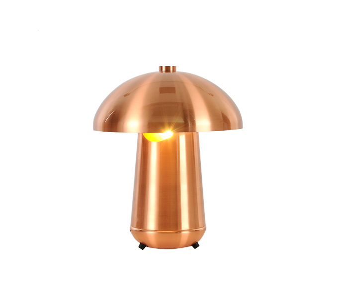 Rose Gold Metal Table Lamp with Metal Shade