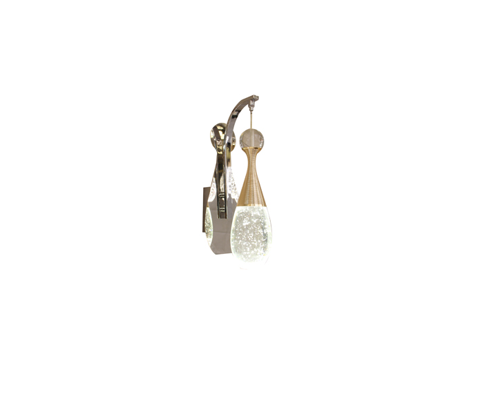 Bubble Crystal S Gold 5W Stainless Steel Perfume Bottle Wall Lamp