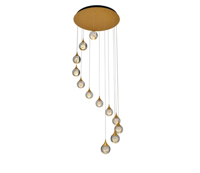 6W Brushed Coffee Aluminum Crystal Ball Pendant Lights