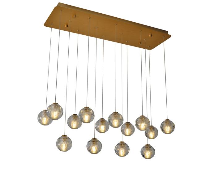 Brushed Gold 5W Aluminum Crystal Ball Pendant Light Wholesaler